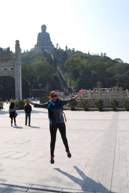 Katie enjoying the Big Buddha