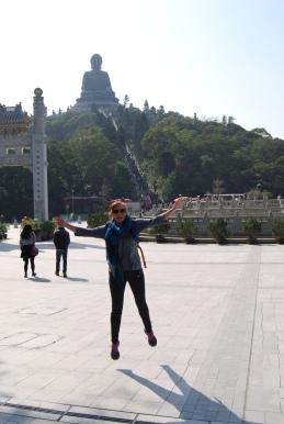 Katie enjoying the Big Buddha