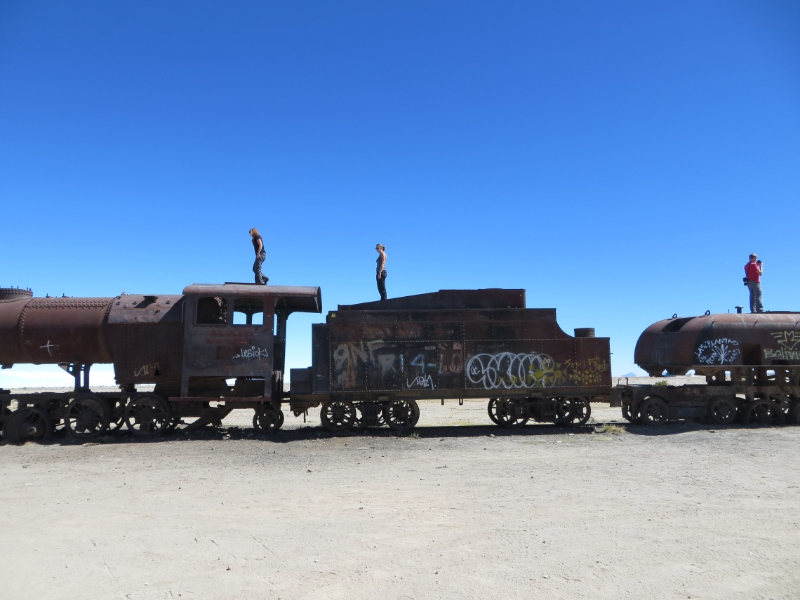 Train graveyard Uyuni Bolivia