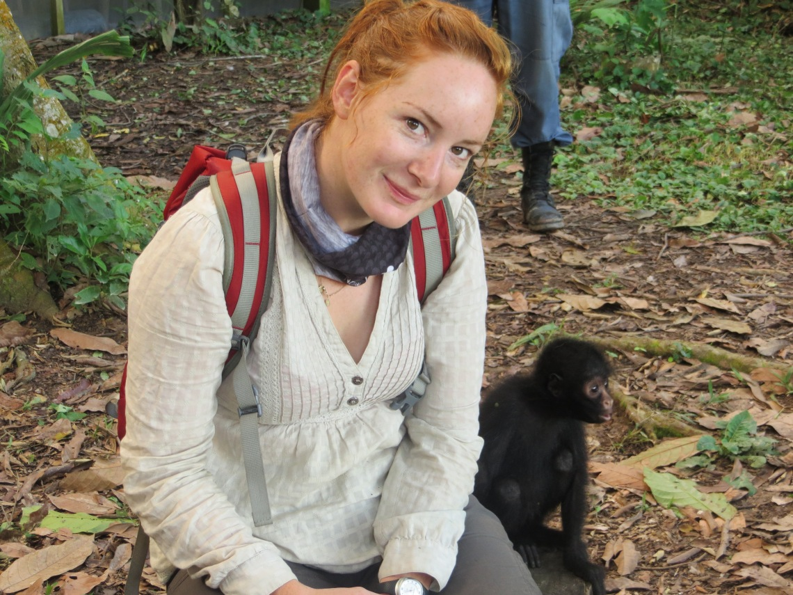 Me and my Spider Monkey friend, Serere reserve, Bolivia