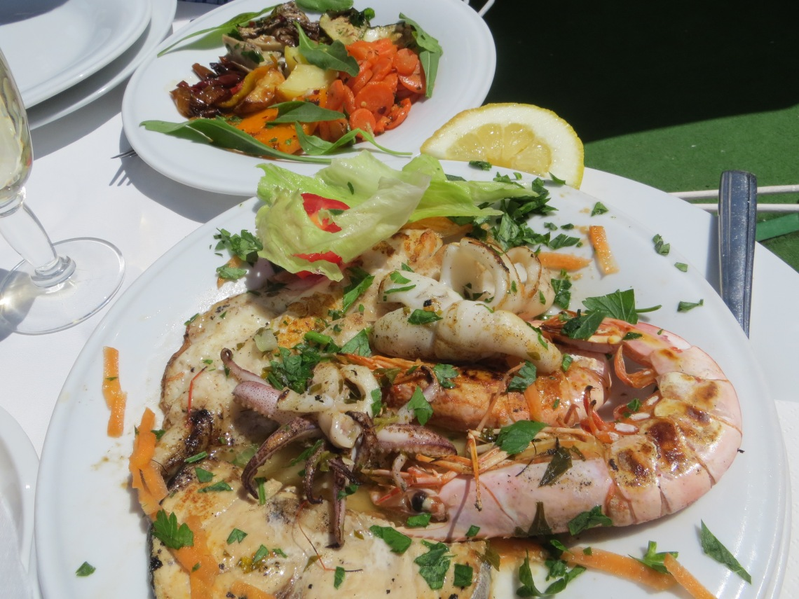 Delicious seafood in Sorrento, Italy