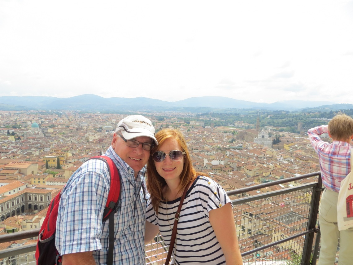 Me and my Dad at the top of the Dome, Florence, Italy