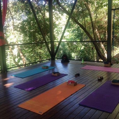 Yoga at the Funky Monkey Lodge, Santa Teresa