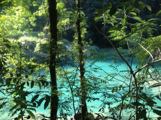 The crystal blue waters of Semuc Champey