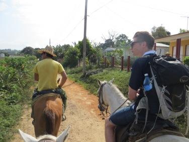 Horse riding in Viñales Valley
