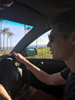 Ali driving us around