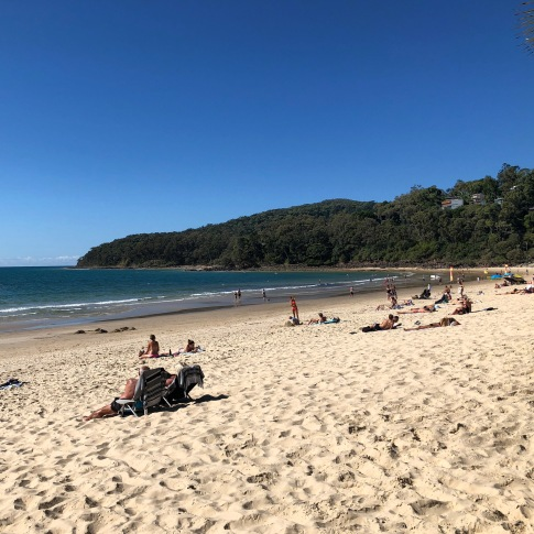 Noosa Beach - not bad for the middle of winter