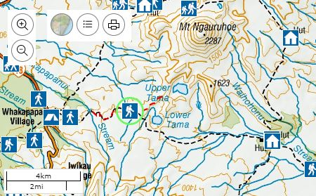 Tama Lake map